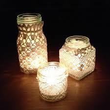 easy to make jam jar lanterns garden pinterest haken potten