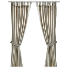Curtains With Ties Lenda Curtains With Tie Backs 1 Pair Light Beige 140x250 Cm Ikea