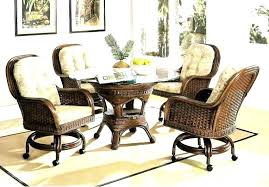 Leather Swivel Dining Chairs Leather Swivel Dining Room Chairs Swivel Dining Chairs With Wheels