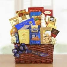 Condolence Baskets Caring Thoughts Sympathy Basket