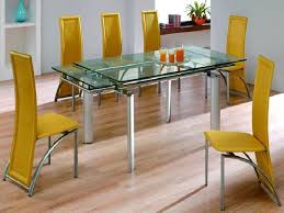 Dining Room Table Extensions by Glass Dining Room Table With Extension Of Well Modern Glass Dining