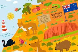 map of australia australia for poster playroom decor
