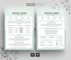 Modern Resume Samples by Creative Resume Template Lohan Resume Templates Creative Market