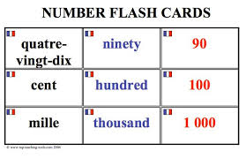 Flashcards Numbers 1 100 French Top Teaching Tools