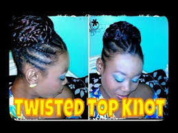 twisted bun hairstyle on african american 51 natural hair twisted top knot bun protective style