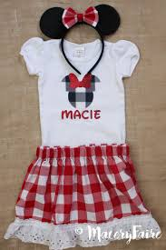 disney mickey u0027s backyard bbq minnie inspired red gingham