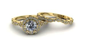 Gold Wedding Ring Sets by Making A Gold And Diamond Wedding Ring Set U2013 Vintage Jewelers