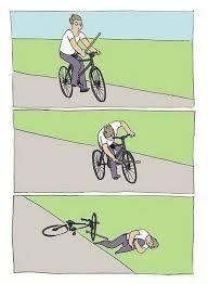 Bike Crash Meme - bike fall meme generator imgflip
