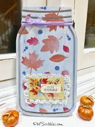 a pretty jar sign for thanksgiving