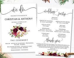 how to do wedding programs wedding program template wedding program printable ceremony
