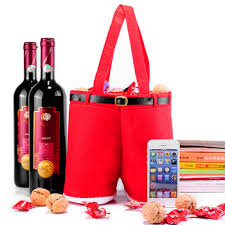 wine bottle gift bags cheap custom personalized fancy christmas felt wine bottle gift