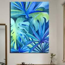 blue tropical wall art tropical wall art here are some ideas to blue tropical wall art