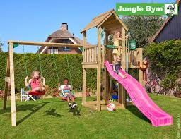 Double Swing Mansion Climbing Frame With Double Swing Play And Sports