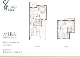 1 floor plans mira floorplans by emaar