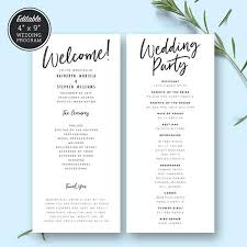 easy wedding program template 9 best wedding programs images on wedding program
