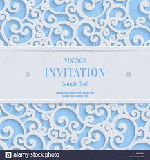 Invitation Card Stock Floral Swirl Vector Blue 3d Christmas Or Weddind Invitation Cards