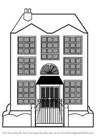 drawing houses learn how to draw mansion house houses step by step drawing