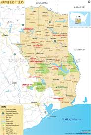 Texas State Park Map by Map Of East Texas East Texas Map
