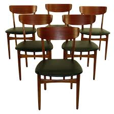 danish teak dining chairs furniture modern room table gunfodder com