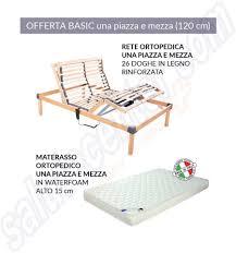 materasso 1 piazza e mezza promo basic rete elettrica una piazza e mezza con materasso ortopedico