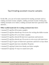 Production Assistant Resume Template Top8tradingassistantresumesamples 150516015014 Lva1 App6891 Thumbnail 4 Jpg Cb U003d1431741063
