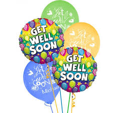 balloons get well soon personalised get well soon balloons
