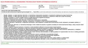 Foreman Job Description Resume by Mechanical Foreman Cv Work Experience Samples