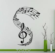 popular home music studio buy cheap home music studio lots from treble clef wall decal notation musical notes music recording studio vinyl sticker home interior decoration bar