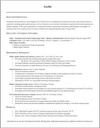 resume formating resume templates