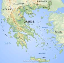 Map Of Italy And Greece by Greece Physical Map