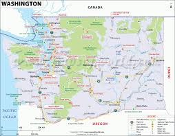 seattle map usa washington map showing the major travel attractions including