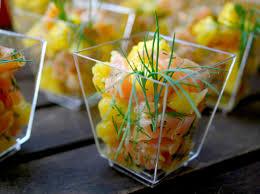cuisiner mangue verrines saumon frais et mangue palais des lys