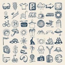 travel theme 49 hand drawing icon set travel theme u2014 stock vector karakotsya