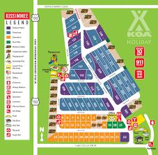 Map Of Kissimmee Kissimmee Florida Campground Orlando Kissimmee Koa