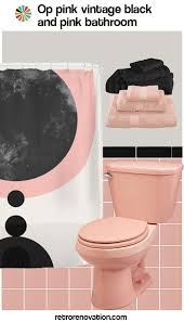 Pink And Black Bathroom Ideas 16 Designs To Decorate A Pink And Black Bathroom Retro Renovation