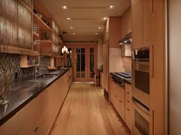 Black Galley Kitchen - kitchen mesmerizing galley kitchen remodel with black butcher