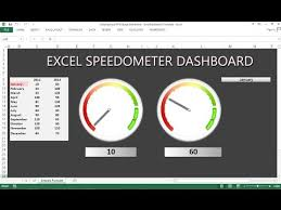 Excel Speedometer Template Dashboard Design In Excel 2010 How To Create A Basic Kpi