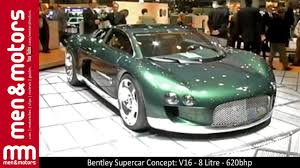 bentley hunaudieres bentley supercar concept v16 8 litre 620bhp youtube
