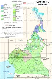 map of cameroon cameroon index map ethnologue