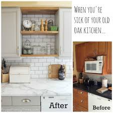 updating oak kitchen cabinets without painting diy white painted
