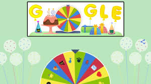 google doodle surprise spinner search engine celebrates 19th