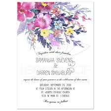pastel watercolor floral wedding invitation