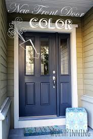 black home entrance color with modern look with white frame also