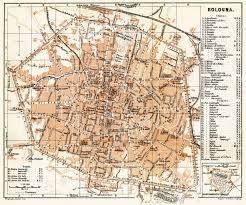 map of bologna map of bologna in 1898 buy vintage map replica poster print