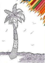tropical beach coloring pages 127 best coloring page images on pinterest colouring hand drawn