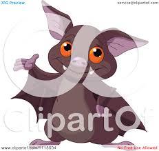 cartoon of a cute halloween bat presenting royalty free vector