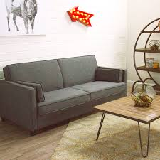 charcoal gray nolee folding sofa bed daybed small spaces and