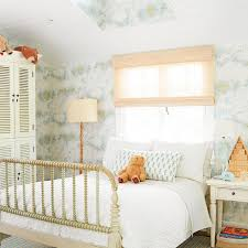 Shutter Armoire Cottage Kids Bedroom With Vintage World Map Wallpaper Cottage