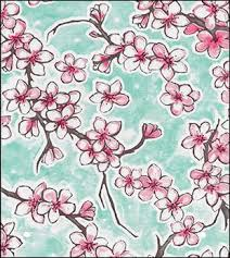 Cherry Blossom Upholstery Fabric Oilcloth By The Yard The Oilcloth Experts