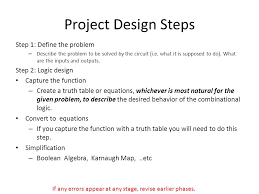 What Is A Truth Table Introduction To Digital Design Lab Project Ppt Online Download